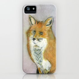 Frustrated Fox iPhone Case