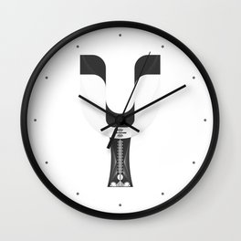 """Tao """"Letter Y"""" Wall Clock"""