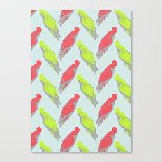 pale parrots Canvas Print
