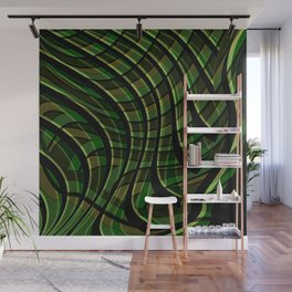 Green wave ,green Wall Mural