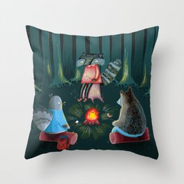 Woodland Friends  Throw Pillow