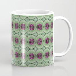 Dandelion Leaf Veins - Green and Purple Coffee Mug