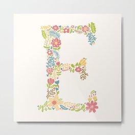 Alphabet E Metal Print