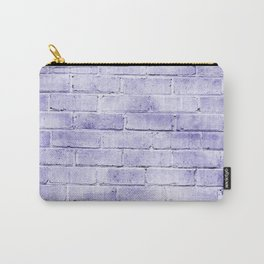 lavender purple distressed painted brick wall ambient decor rustic brick effect Carry-All Pouch