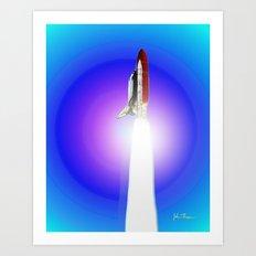 Space shuttle Alantis Art Print