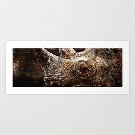 Black Rhinoceros Art Print