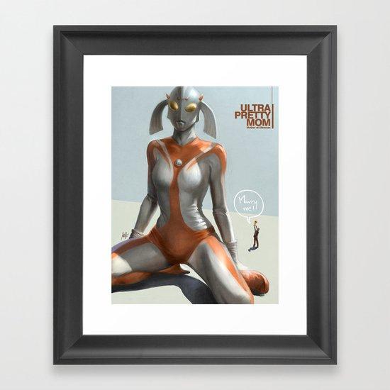 Ultra Pretty Mom Framed Art Print