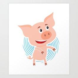 Floss Dance Move Pig Art Print