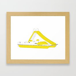Yellow pedalo Framed Art Print