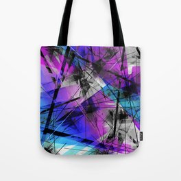 Lines of Departure - Futuristic Geometric Abstract Art Tote Bag