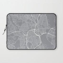 Providence Map, Rhode Island USA - Pewter Laptop Sleeve
