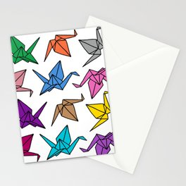 Origami Cranes Colorful Palette Stationery Cards