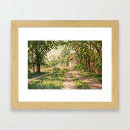 JOHAN KROUTHÉN, SUMMER LANDSCAPE WITH WINDMILL. Framed Art Print