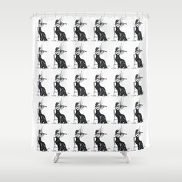 Playing the violin Shower Curtain