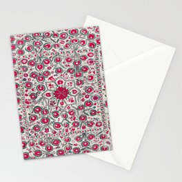 Ura Tube Suzani Northeast Uzbekistan Embroidery Print Stationery Cards