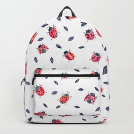 Lucky Ladybugs & Black Leaves Backpack
