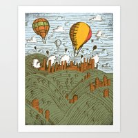 balloons Art Prints featuring BALLOONS by Matthew Taylor Wilson