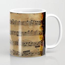 Grunge Sheet Music Music-lover's Design Coffee Mug