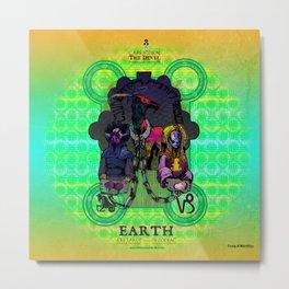 """Ars Tarot of the 12 Zodiac: """"Capricorn - Devil"""" Metal Print"""