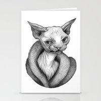 sphynx Stationery Cards featuring Sphynx by Tim Van Den Eynde