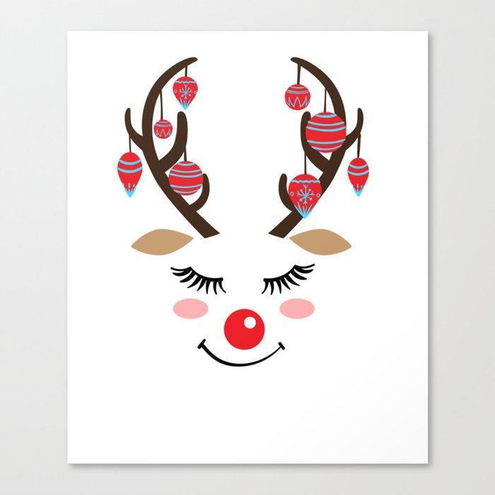 Reindeer Sleigh Santa Claus Rudolph Gift Canvas Print By Mrniceguy83