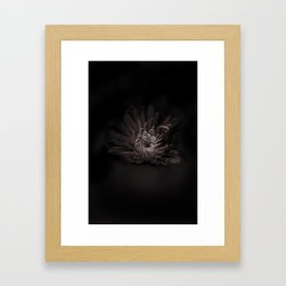 Dark Flower Framed Art Print