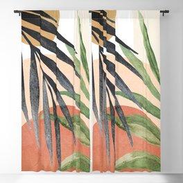 Abstract Tropical Art VI Blackout Curtain