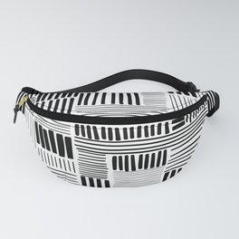 Black and White Abstract Pattern Fanny Pack