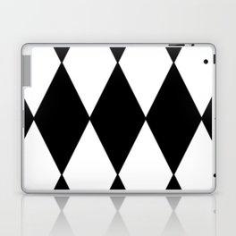 LARGE BLACK AND WHITE HARLEQUIN DIAMOND PATTERN Laptop & iPad Skin