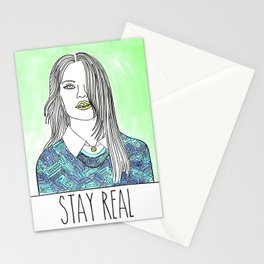 Stay Real Stationery Cards