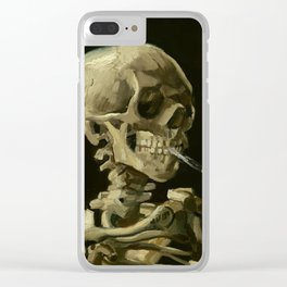 Vincent van Gogh Head of a Skeleton with a Burning Cigarette Clear iPhone Case