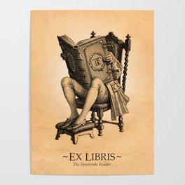 Ex Libris 'The Inveterate Reader' Poster