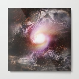 White Fountains (The Pregnant Fullness of Empty Space) Metal Print