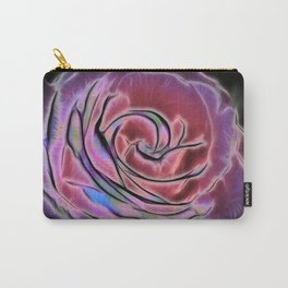 Pink rose Fractalius Carry-All Pouch