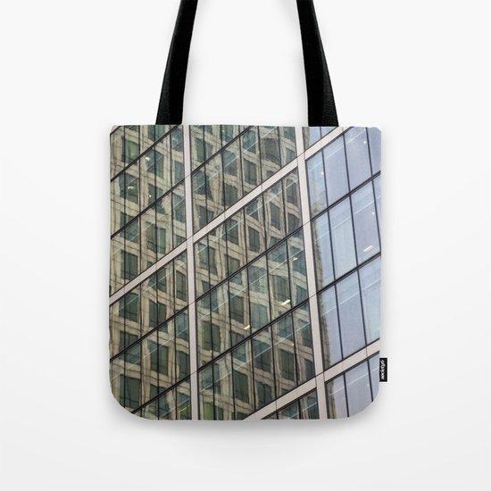 Canary Wharf Window Reflections Tote Bag