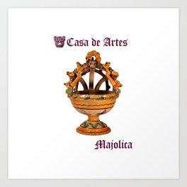 Majolica Incense Burner - Casa de Artes Art Print