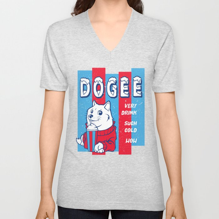 Dogee Such Cold  Unisex V-Neck