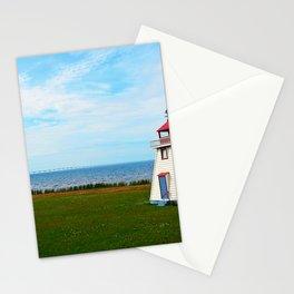 Long Bridge and Tiny Lighthouse Stationery Cards