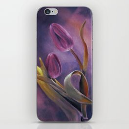 Tulips at Twilight iPhone Skin