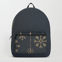 Ornate Midnight Snow  Backpack