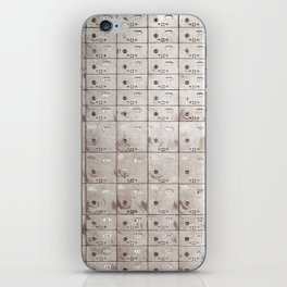 Chests with numbers iPhone Skin