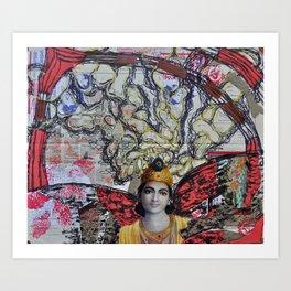 Shiva dreams Art Print