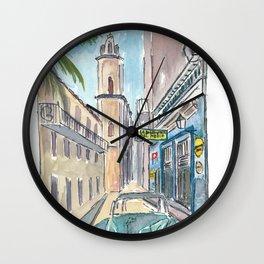 Bodeguita del Medio Havana with Old_Car Empedrado Wall Clock