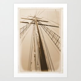 Top of the Mast Art Print