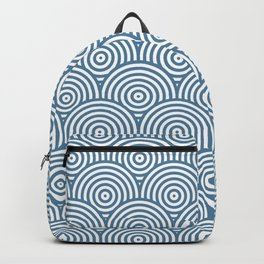 Scales - Blue & White #453 Backpack