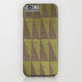 Folk art triangle decoration iPhone Case