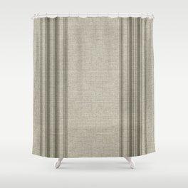 Farmhouse Linen Beige Rustic Grain Sack Texture Vintage Lined Design Modern Shower Curtain