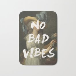 NO BAD VIBES Bath Mat