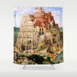 12,000pixel-500dpi - Pieter Bruegel - Tower Of Babel - Digital Remastered Edition Shower Curtain