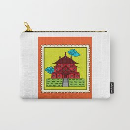 Retro Stamp-sized Temple Carry-All Pouch